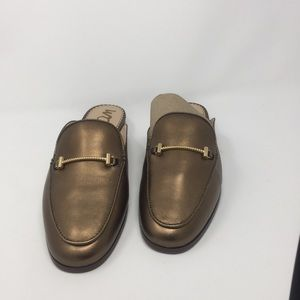 Sam Edelman Laurna Bronze Leather Mules NIB